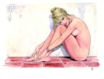Milo MANARA<br> 25 aquarelles inédites contresignées par Brigitte Bardot<br>590 000€