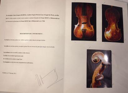 Violon Baroque Allemand Fait par Franz SEITZ