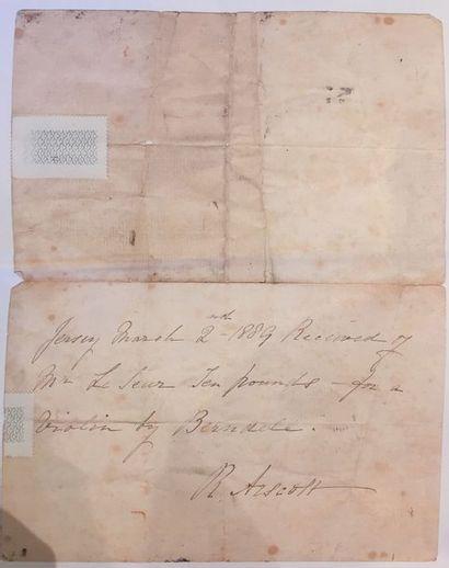 Violon Français fait par Sebastien Auguste BERNARDEL fait dans les années 1840, portant...