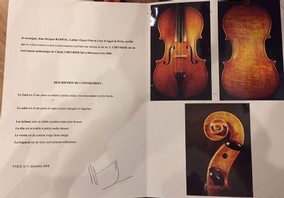 Violon Français Fait par Claude CHEVRIER