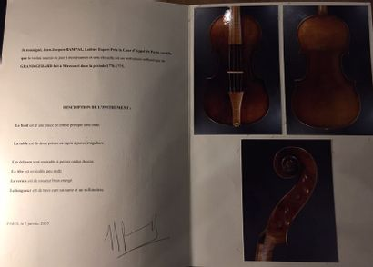Violon Français Fait par Grand Gerard