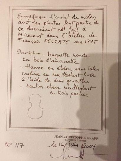 Archet de violon Atelier François PECCATTE
