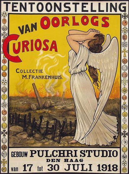 Tentoonstelling Van Oorlogs Curiosa Collectie M. Frankenkenhuis Den Haag 1918