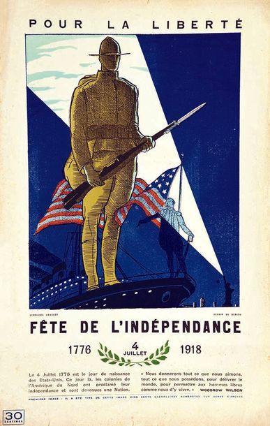 BENITO Pour la Liberté Fête de l'Indépendance 4 juillet 1918 1918 Le 4 Juillet 1776...