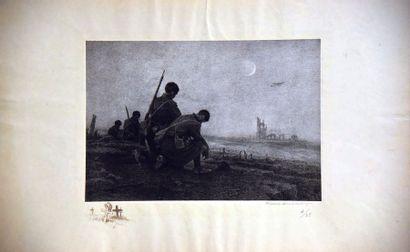BOUISSET FIRMIN L'Aube lithographie signéeet N° 4/25 par Firmin Bouisset vers 1915...