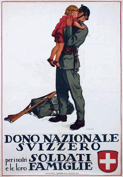 COURVOISIER JULES Dono Nazionale Svizzero per i nostri Soldati e le loro Famiglie...