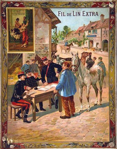 Recencement des Chevaux Fils à L'Autruche vers 1914 Lille (Nord) F. Champenois Paris...