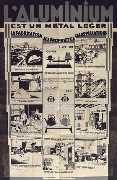 L'Aluminium est un Métal Léger vers 1930 Sa fabrication - Ses propriétés - Ses applications...