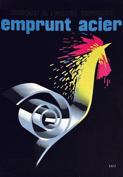 ERIC Emprunt Acier Groupement de L'Industrie Sidérurgique vers 1950 R. L. Dupuy Paris...