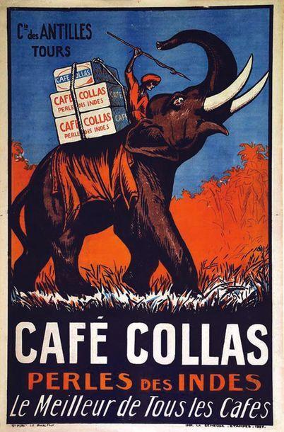 Café Colas Perles des Indes - Le meilleur de tous les cafés. Cie des Antilles 1927...