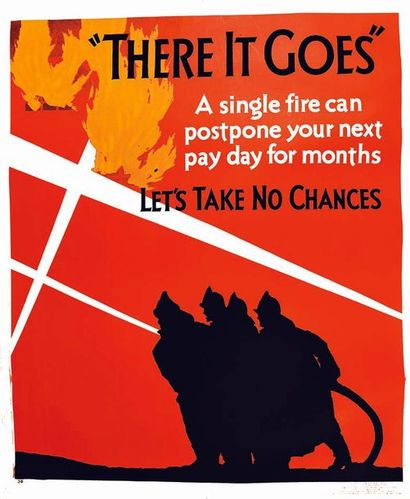 There it Goes Let's Take no chance MATTER 1929 Matter & Compagny Chicago   Affiche...