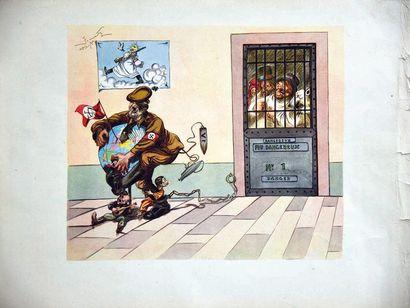 Fou Dangereux N° 1 1945 Affiche entoilée/ Vintage Poster on LinnenT.B.E. A -petites...