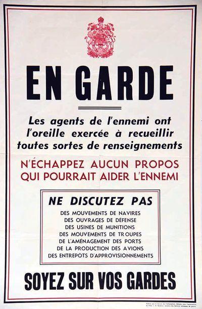 En Garde Les agents de L'Ennemi ont l'Oreille exercée à recueillir toutes sortes...