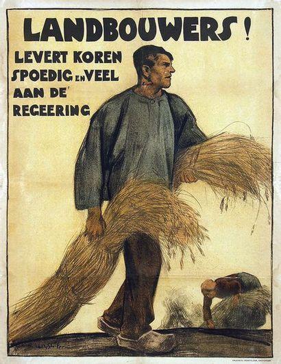 Landbouwers ! Levert Koren Spoedig en veel aan de regeering vers 1915 Agriculteurs!...