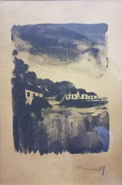 Maurice VLAMINCK (1876-1958) Paysage    Lithographie...