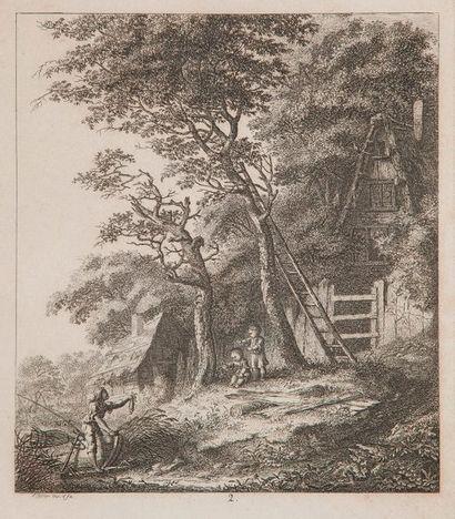 Salomon GESSNER (1730-1788) Ensemble de 5...