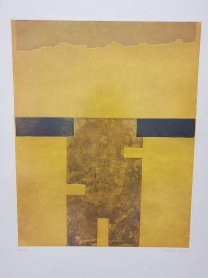 Manzo MANT ( Xxème siècle) Composition orange...