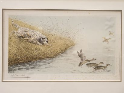 Léon Danchin (1887-1938) L'envol des canards...