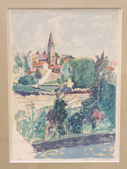 François Szulman (né en 1931) Le village...