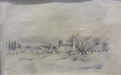 Richard MAGUET (1896-1940) Le chemin de Graveson...