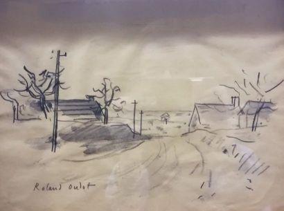 Roland OUDOT (1897-1981) Chemin en Ile de...