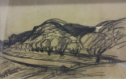 Auguste CHABAUD (1882-1955) Paysage    Crayon...