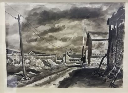 Pierre DEJEAN (1919) Paysage de Roinvilliers...