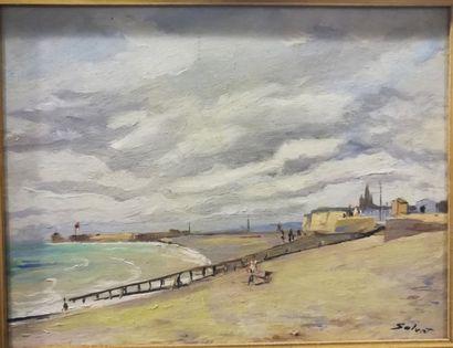 François SALVAT (1892-1976) Le bord de mer...