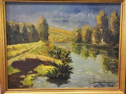 Charles Henri VERBRUGGHE (1877-1974) Paysage...