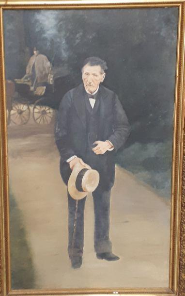 Ecole française du Xxème siècle Portrait...