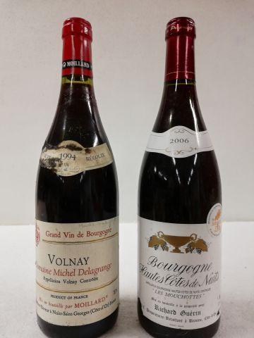 Lot de 2 bouteilles : 1 Volnay Domaine Michel...