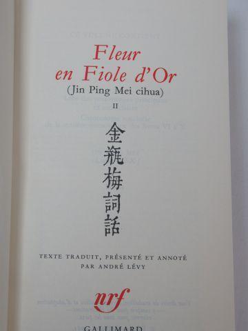 "LA PLEIADE, JIN PING MEI ""Fleurs en fioles d'or"" Tomes 1 et 2. 1985. dans un co..."