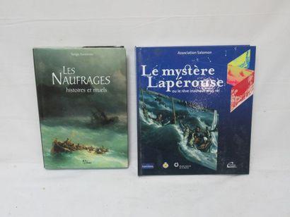 Lot de deux livres : le mystere la perouse...