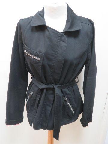 BELAIR Veste en coton noir. Taille 2.