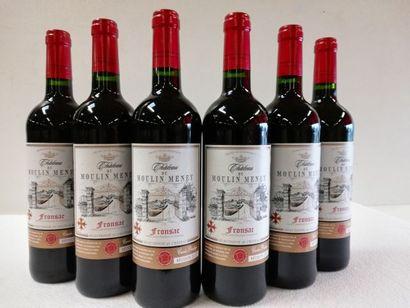 6 bouteilles de Fronsac. Récolte 2017. La...