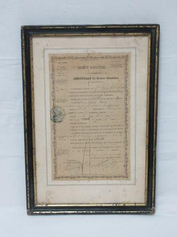 Certificat de bonne conduite du 72e régiment...