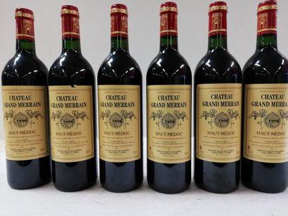 6 bouteilles de Haut Médoc. 1996. Château...
