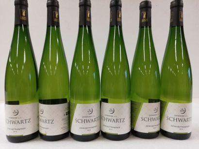 6 bouteilles de Gewurztraminer. 2014. Domaine...