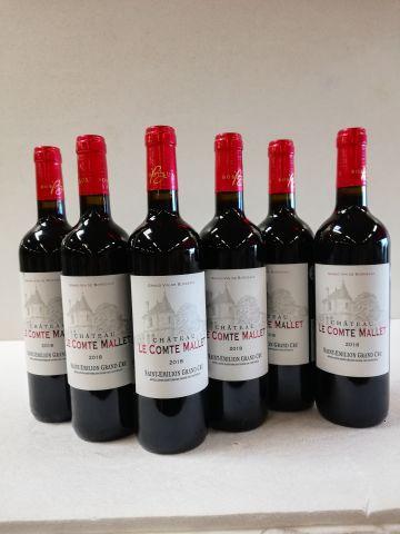 6 bouteilles de St Emilion Grand Cru. 2018....