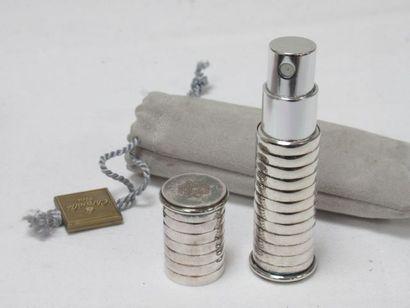 CHRISTOFLE Vaporisateur de sac en métal argenté....