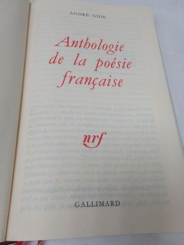 """LA PLEIADE, André GIDE, """"Anthologie de la Poésie française"""", 1983"""