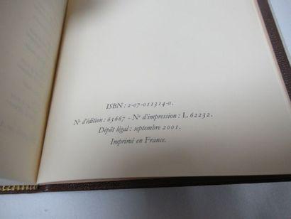 """LA PLEIADE, Colette """"Œuvres"""", tome 4, 2001"""