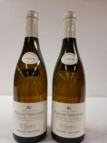 2 bouteilles de Pernand-Vergelesses 1er Cru....