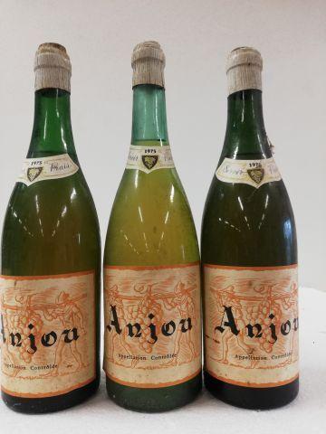 3 bouteilles de Anjou. Blanc liquoreux. 1975....