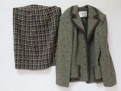 Lot comprenant une veste Weill en laine (85%)...
