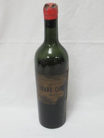 Bouteille de Médoc, Brane Cantenac, 1913. (vidange, important dépôt, caspsule abîmée,...