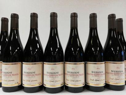 8 bouteilles de Hautes Côtes de Nuits. 2016....