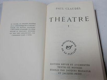 "LA PLEIADE, CLAUDEL, ""Théâtre"", tome1, 1967"