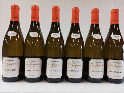 6 bouteilles de Montagny. 2016. Bourgogne....