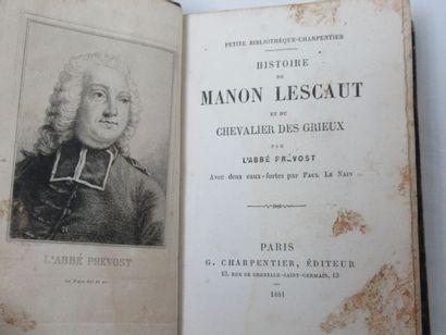 """L'Abbé Prévost """"Histoire de Manon Lescaut et du Chevalier des Grilles"""" Illustré..."""
